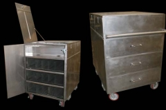 Stainless Steel Clean Room Transport Cart
