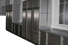 Mesh Door Cabinets for Laboratory Chemicals