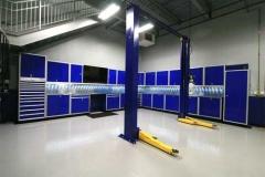 Moduline Blue Garage Cabinets