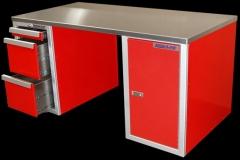Aluminum Desk with file folder drawers
