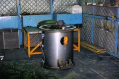 Tank in Grinding Booth