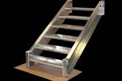 Custom Fabricated Aluminum Stairs